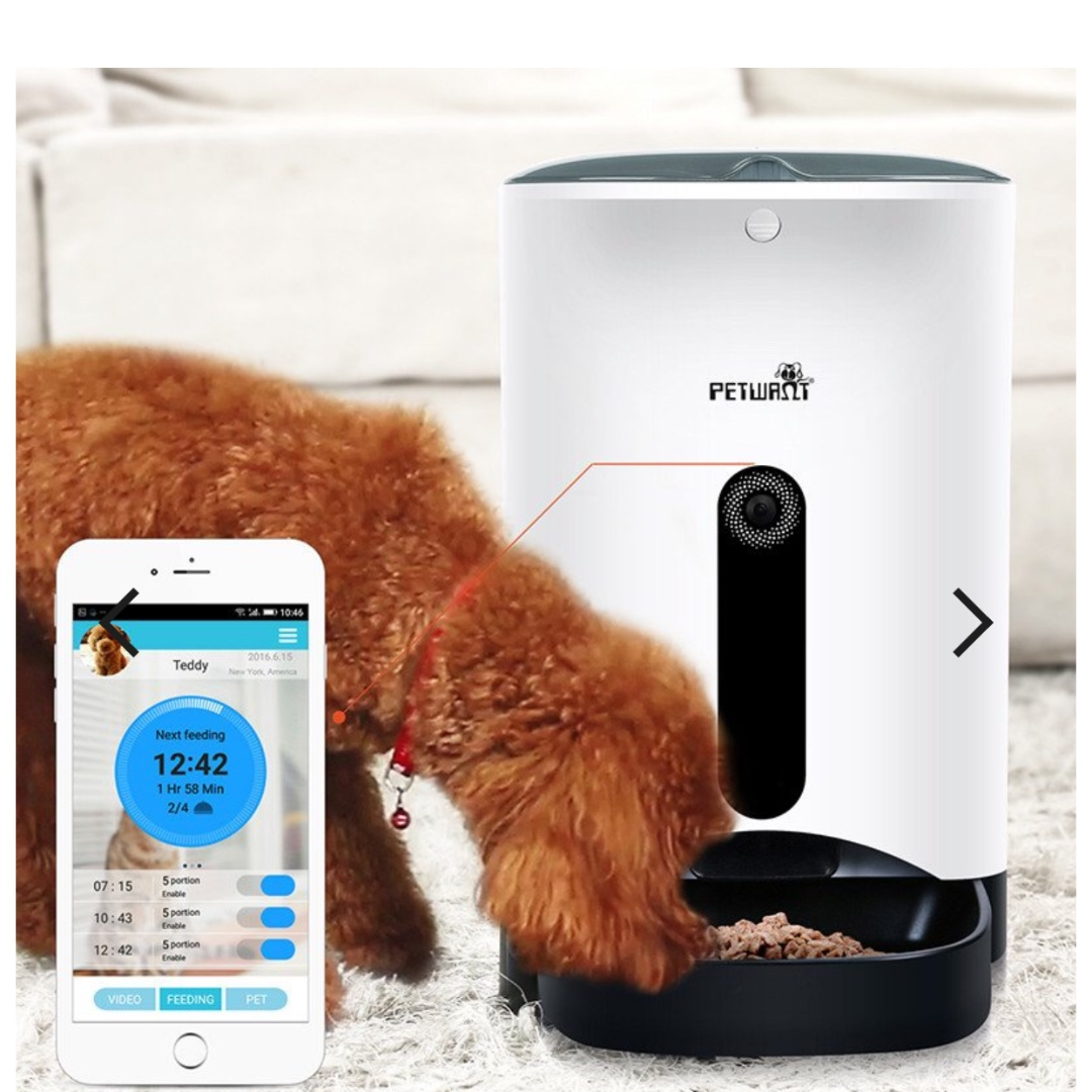 remote and voice alnpet smart c pet feeders scale communication intelligent feeding with plus integrated p automatic feeder management advanced app