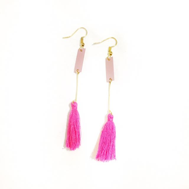 pinkish earring