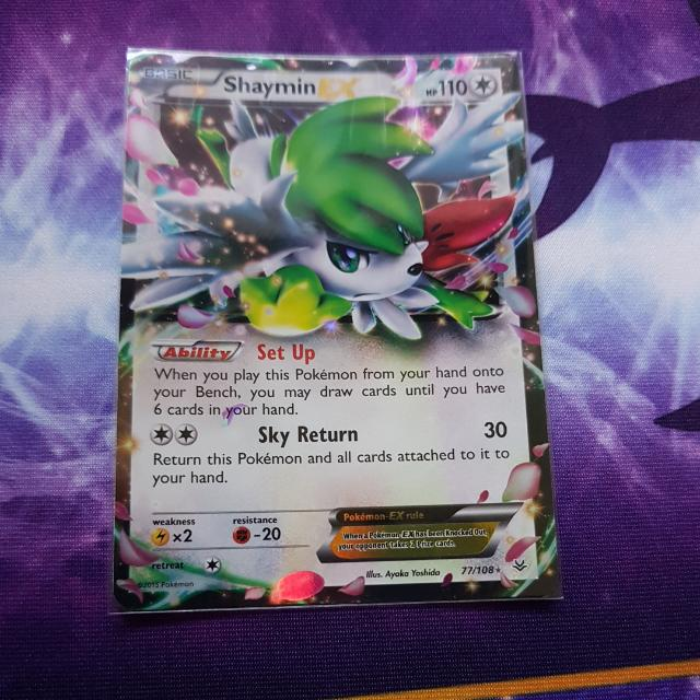 Pokemon Trading Card Shaymin Ex From Roaring Skies 77108 Tcg Toys