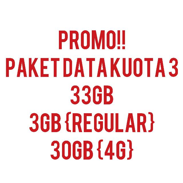 PROMO KUOTA THREE Cus Order