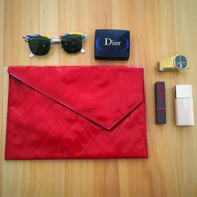 Red Envelope Clutch