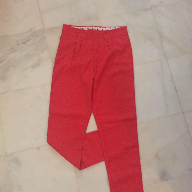 Reddish Orange Pants