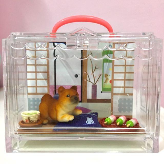 絕版🇯🇵Re-ment日本可愛動物盒玩 小柴犬🐕附糰子🍡抹茶🍵坐墊