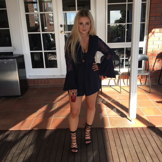 """RENTING """"Harper and Me"""" navy Playsuit"""