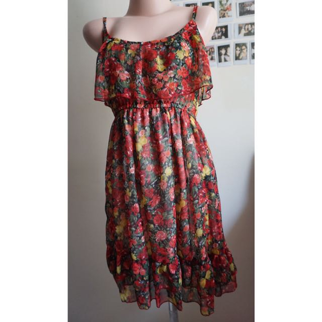 Red Yellow Roses Dresses