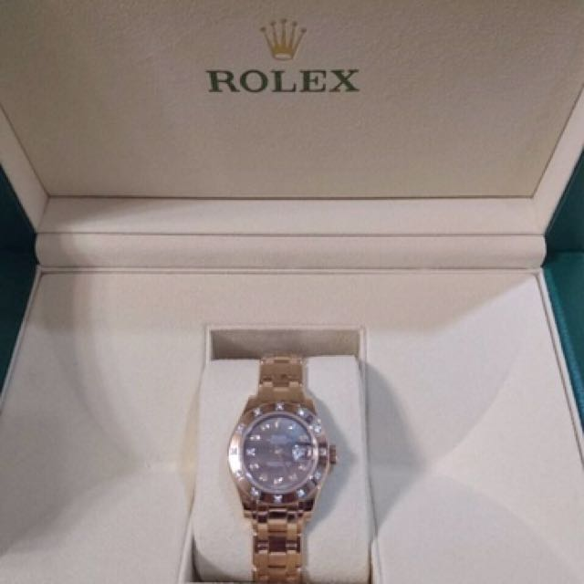 全新Rolex#80315限量玫瑰金母背錶盤鑽錶