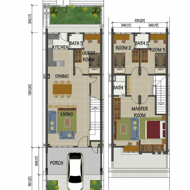 Rumah Teres 2 Tingkat Taman Desa Putra Johan Setia Jalan Kebun Property For On Carou