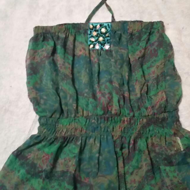 Size 10 Green Halter Top