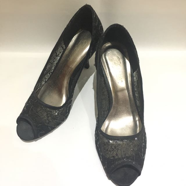 SM Black Open Toe Heels