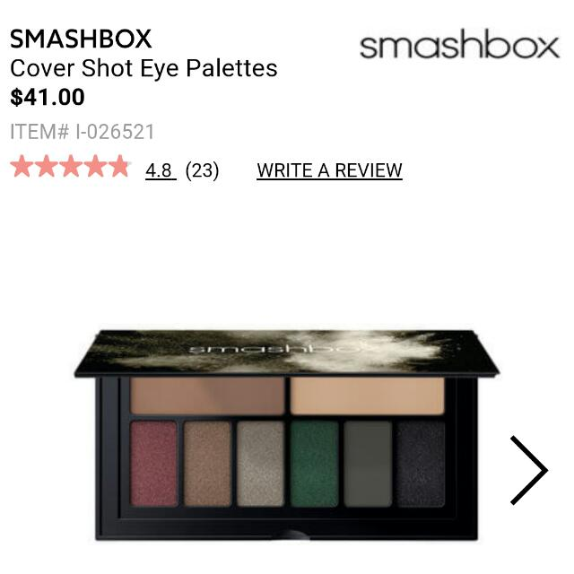 Smashbox Covershot Eyeshadow Palette In 'Smoky' 😍