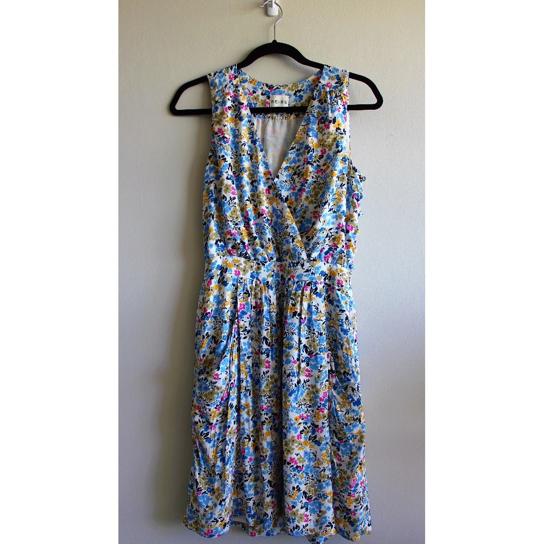 """Sz 2 - Reiss Floral Drape """"Frannie"""" Dress"""