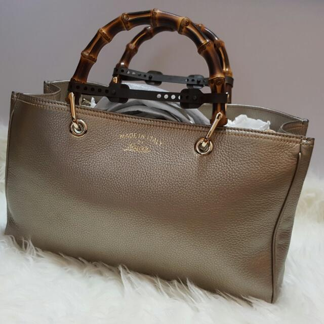 Credit Card Accepted! Offer your Price! RTP: $3500 BRAND NEW GUCCI BAMBOO SHOPPER!