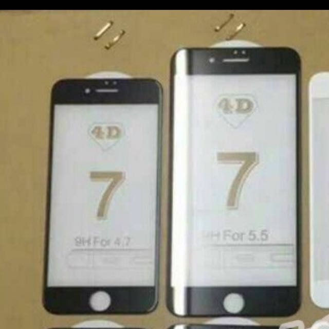 tempered glass 4D iphone 7 dan 6