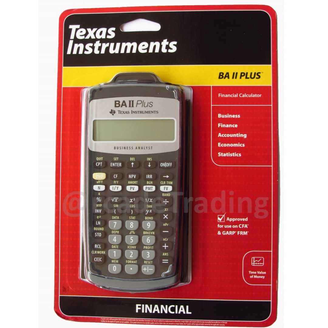 Texas Instrument NEW BA II Plus Financial Calculator CFA Approved FIXED