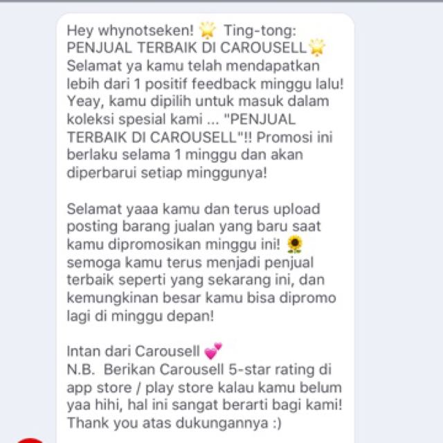 Thanks Carousell 😊