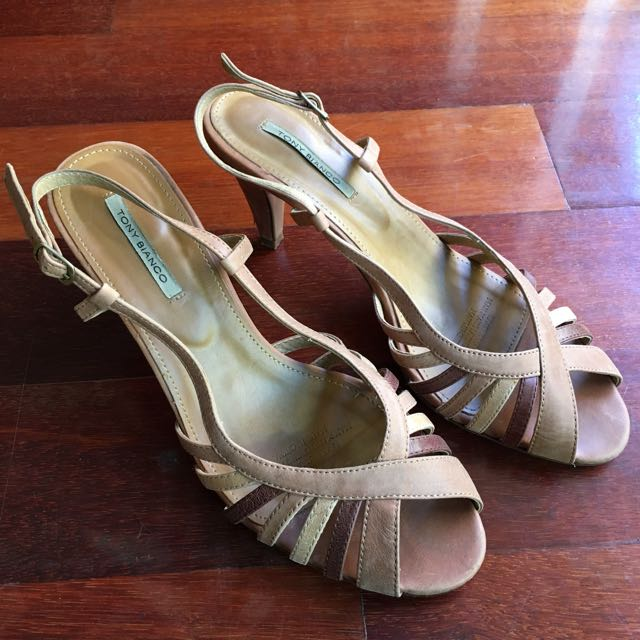 Tony Bianco Tan Leather Heels