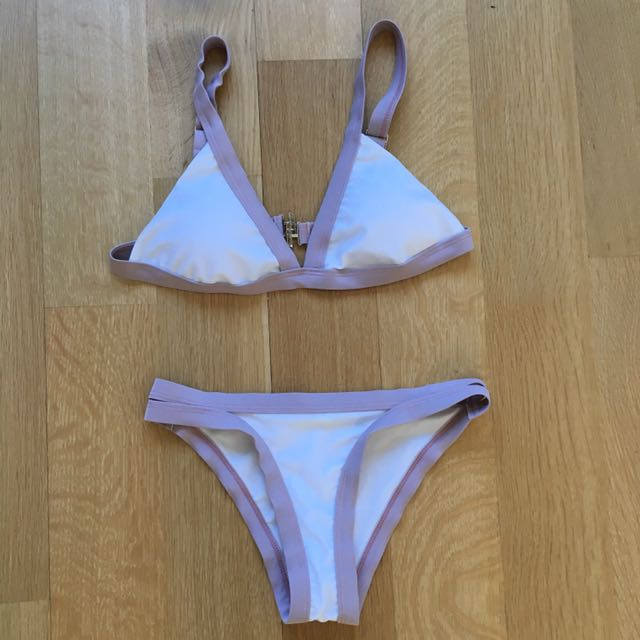 Two Tone (white and taupe) Bikini