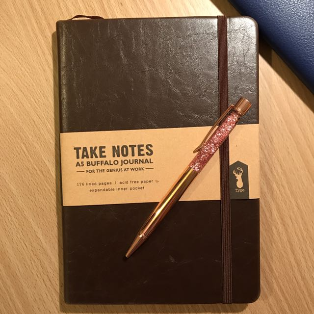 TYPO A5 Buffalo Journal & Rose Gold Pen