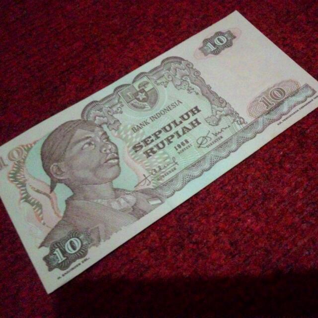 uang lama jendral sudirman  10 rupiah, thn 1968, 1pcs