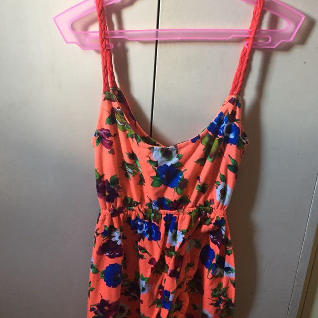 Unbranded Floral Orange Dress