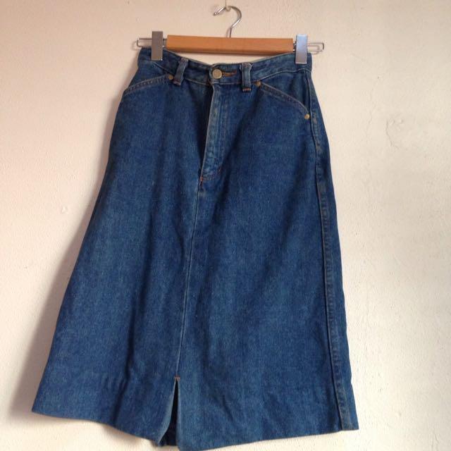 Vintage Denim Skirt