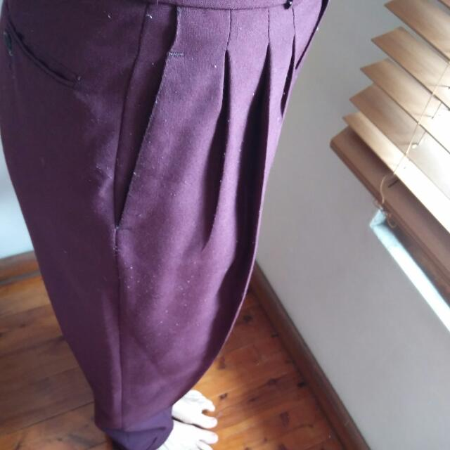 Vintage High Waisted Pleated Pants