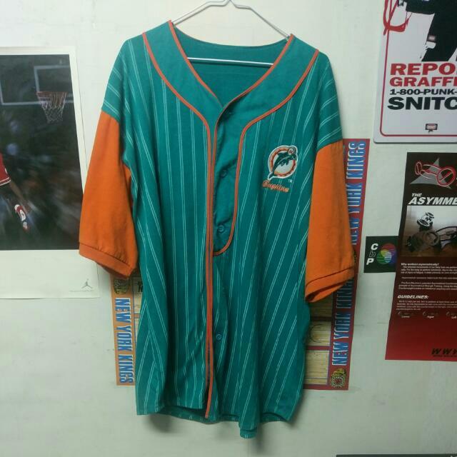 Vintage NFL 邁阿密海豚 棒球衣 古著
