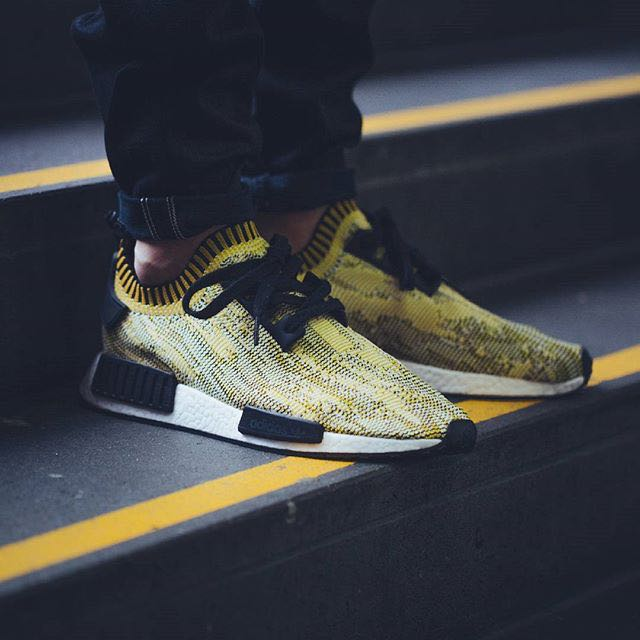 f395bef330af0 VNDS  US9 Adidas NMD Runner Yellow Camo Glitch PK