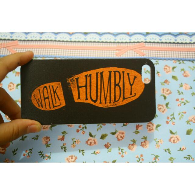 Walk Humbly Iphone 5 Case