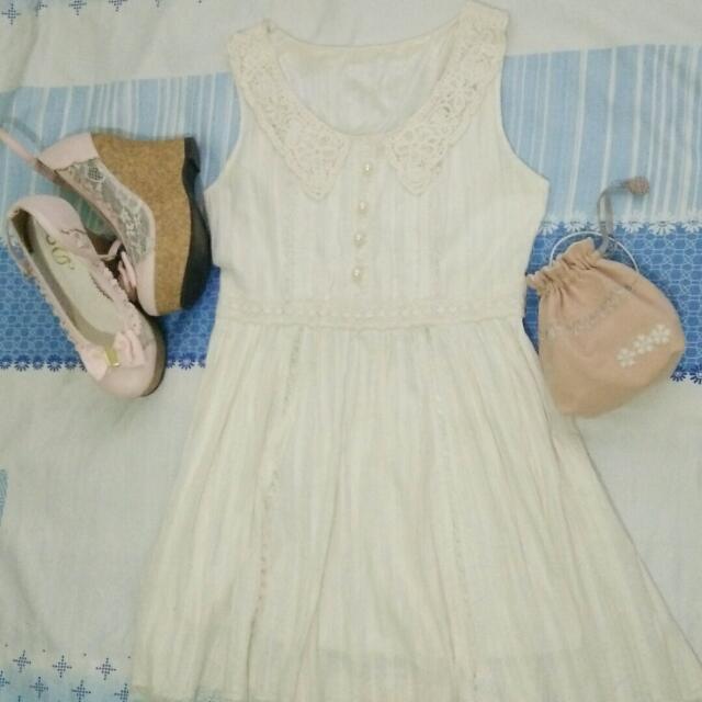 White Dress Mid Thigh