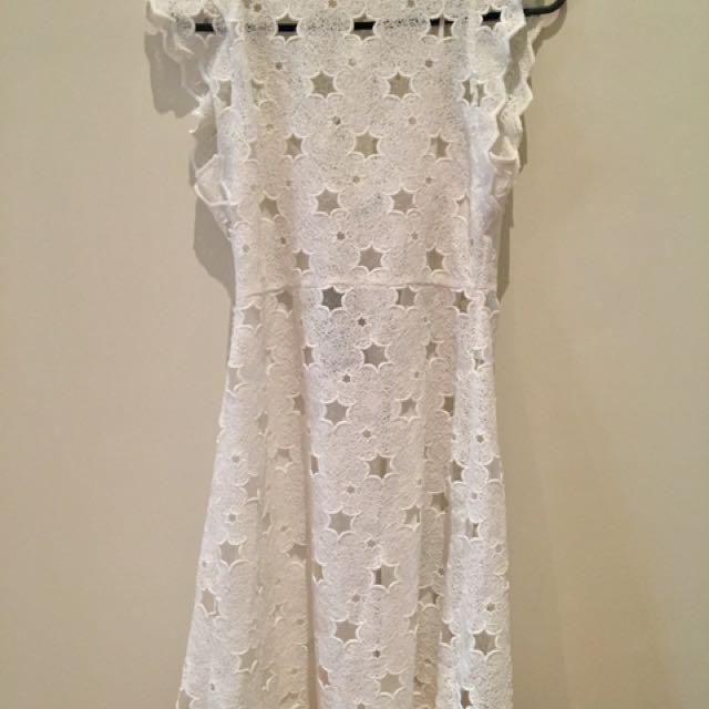 White Zara Star Dress Size S