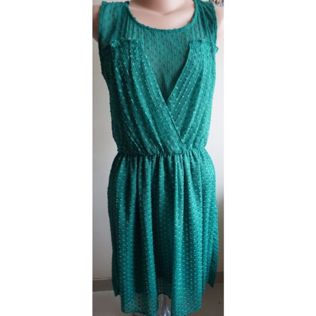 ZARA- Green Garden Dress