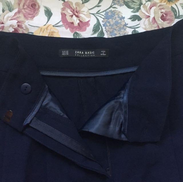 Zara HW Navy Blue Cullotes