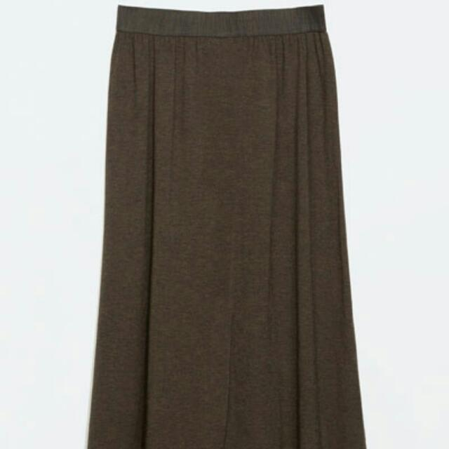 ZARA Trafaluc Midi Skirt With Slit (with FREEBIE)