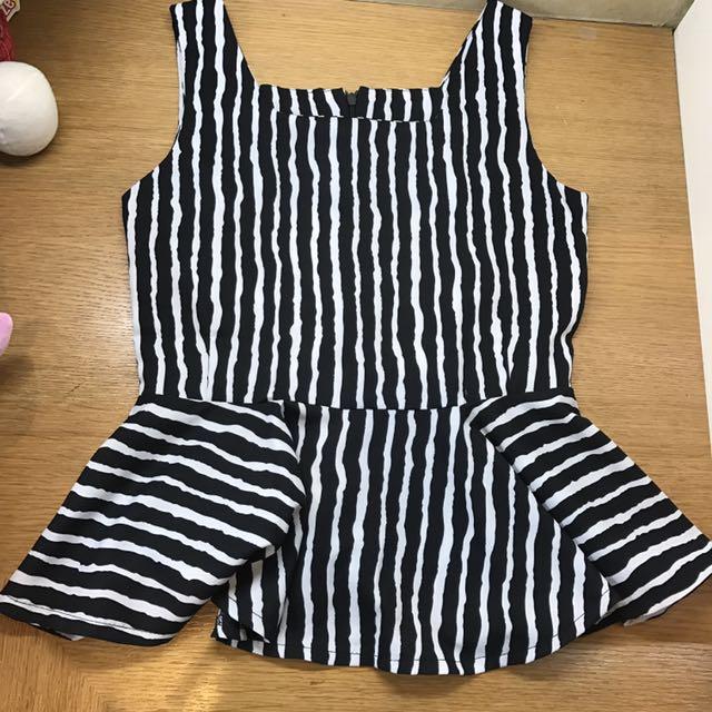 Zebra pattern top