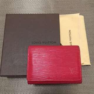 [減價] LV  Epi 壓紋卡片套 Card holder