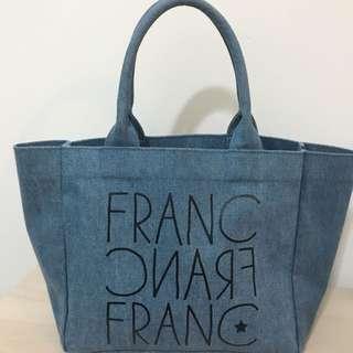 Francfranc 牛仔布 手挽袋 環保袋 飯盒袋 小袋