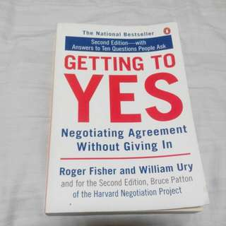 Getting To Yes Second Edition