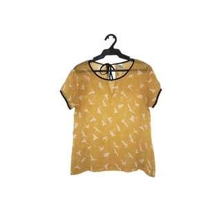 Yellow Short Sleeves Top