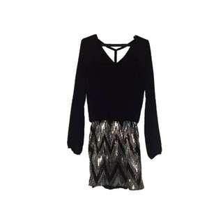Black Backless Party Dress