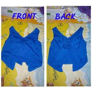 Croptop Ribbon Back