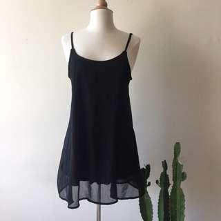 Brandy Melville Black Slip Dress