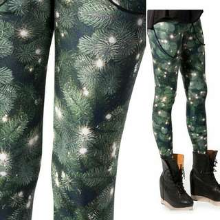 BLACK MILK CLOTHING CHRISTMAS TREE LEGGINGS Size Small In Great Condition