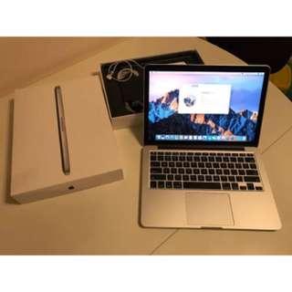 "Apple MacBook Pro A1502 13.3"" 13"" Retina MF843LL/A 2015 3.1Ghz i7 16gb pci-e SSD"