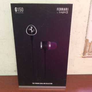 Ferrari AAV-1LFE018W Cavallino G150 Earphones with One Button Remote - Black