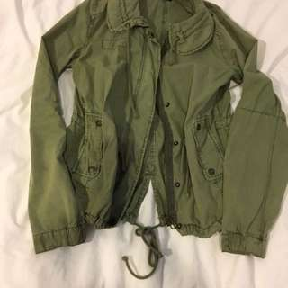 Green Mid Length Jacket