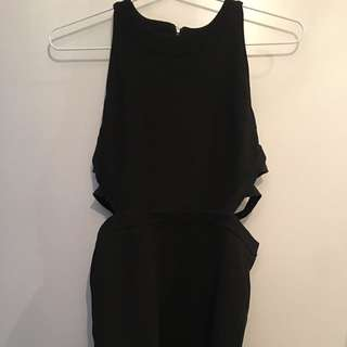 Topshop Black Dress Length:mini