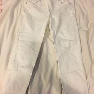 H&M Ivory Denim