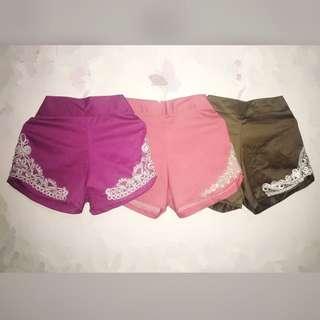 Lace high waisted shorts