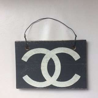 Brandy Melville Wood Channel Sign